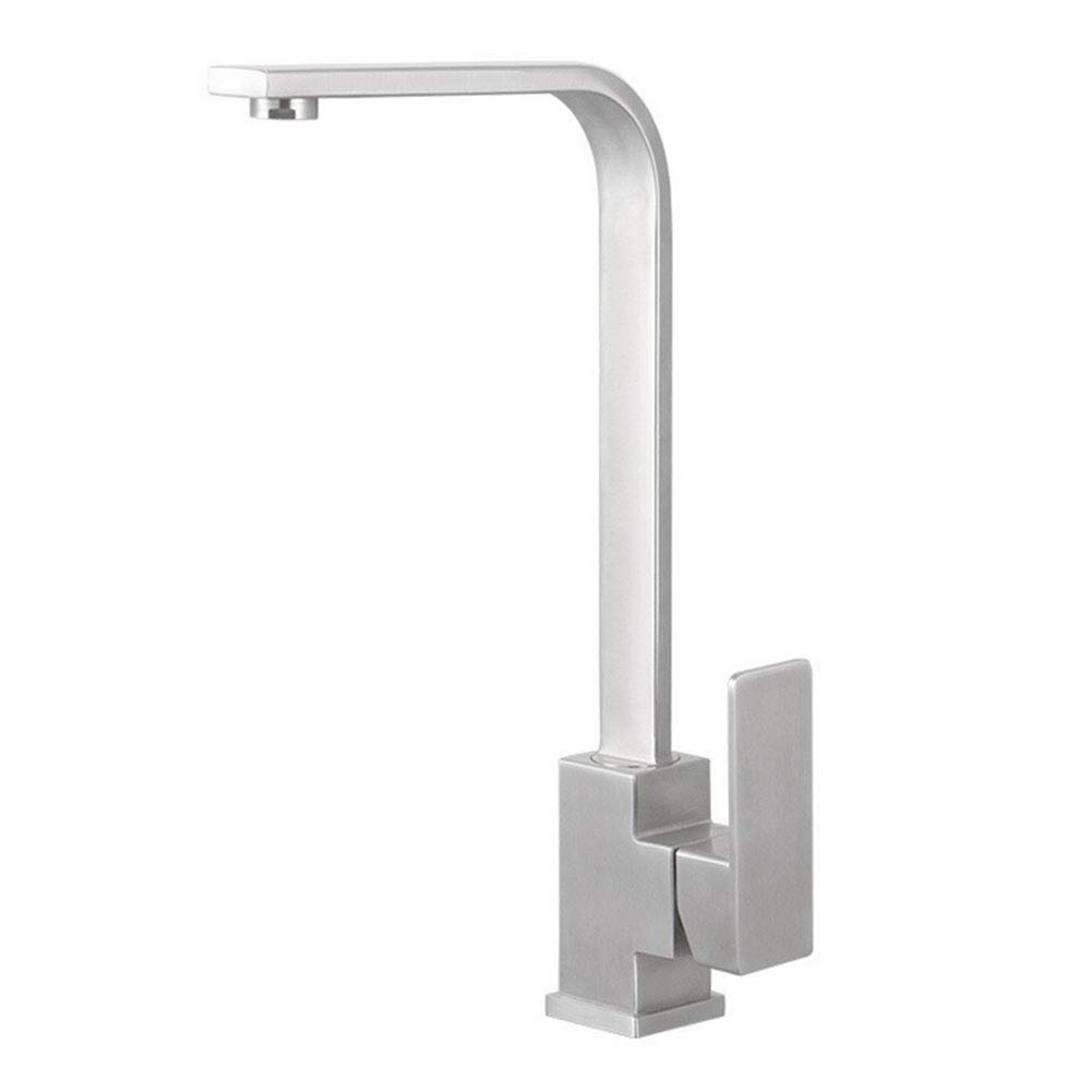 WAWRR Faucet 304stainless Steel Kitchen Faucet Single Handle Multifunction Spray Head Suitable for use in The Kitchen Bathroom