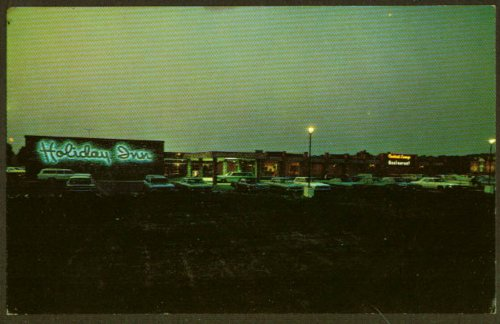 Holiday Inn Route 50 Easton MD postcard 1960s from The Jumping Frog