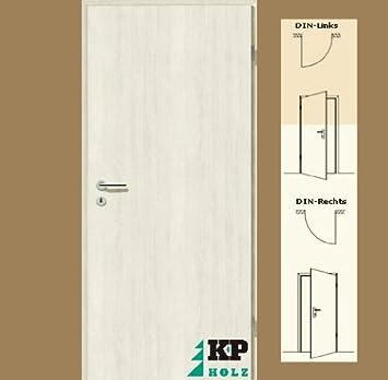 Zimmertüren weiß baumarkt  CPL Zimmertür Tür Türen Innentüren Pinie weiß RSP DIN Rechts / 16 ...
