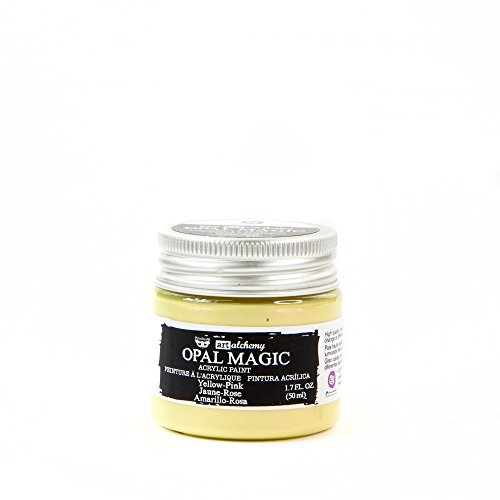 Prima Marketing Inc. 966089 Finnabair Art Alchemy-Opal Magic Acrylic Paint -Yellow-Pink,