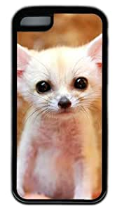 meilinF000Fennec Baby Fox DIY Rubber Black iphone 4/4s Case Perfect By Custom ServicemeilinF000