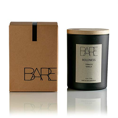 Bare Kollections Bare Soy Candles, (Boldness) Hand Poured in The USA | Luxury Candles | Long Lasting | Tobacco Candle | Birthday Gifts