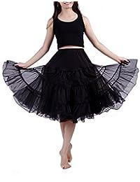 HDE Women's Petticoat Tutu Skirt Vintage Rockabilly Swing Dress Underskirt
