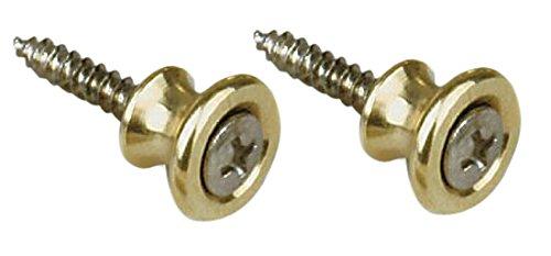 Gibson Gear PREP-010 Strap Buttons, Brass, 2 Pack