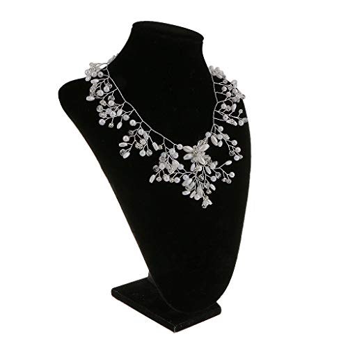 - White Pearl Necklace Silver Plated Vine Bridal Wedding Party Jewelry Necklace Jewelry Crafting Key Chain Bracelet Pendants Accessories Best