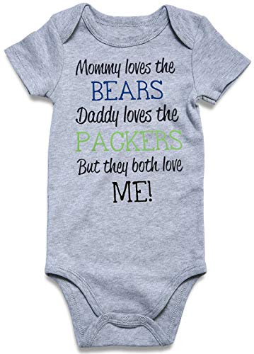 UNICOMIDEA Infant Baby Suits Cotton Softy Romper Baby Boys Jumpsuit Girls Cute Outfits Letter Print Mommy and Daddy Both Love Me One Piece Jumpsuit Outfits Clothes -