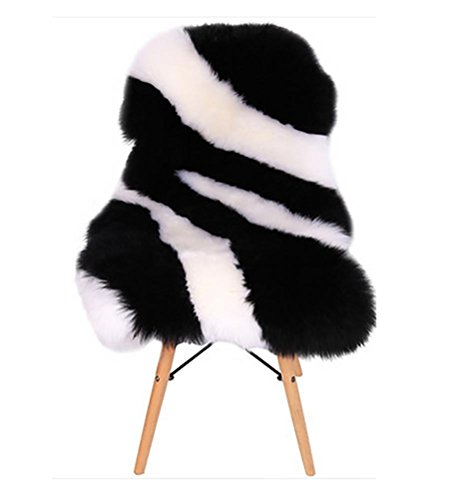 YAOHAOHAO Luxury sheepskin blankets milestones chair seat cushion lint pad fur carpet for the bedrooms by YAOHAOHAO (Image #4)