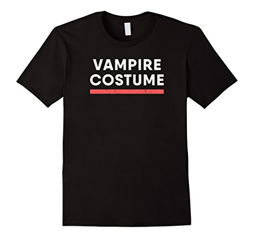 Modern Male Vampire Costume (Mens Funny Vampire Costume T-Shirt : Cute Halloween Party Gift 2XL Black)