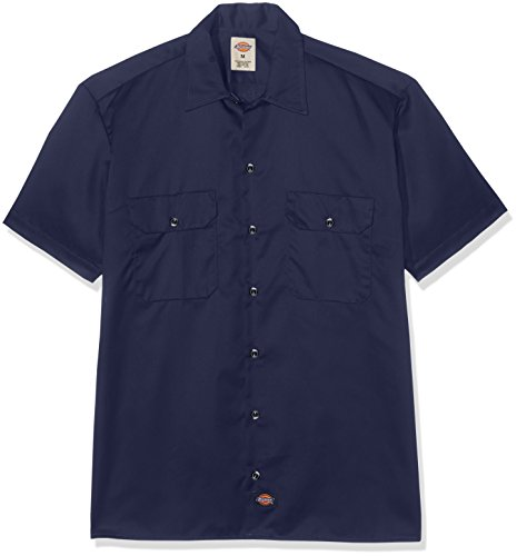 Price comparison product image Dickies Men's Short Sleeve Work Shirt (XL-Tall,  Navy)