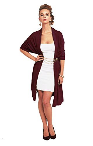 Super Soft Oversized 100% Cashmere Travel Blanket Scarf Wrap - Cabernet by Anna Kristine