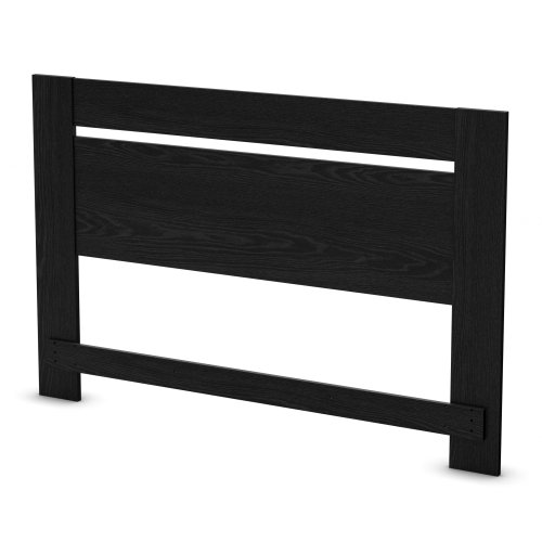 (South Shore Flexible Headboard, Full/Queen 54/60-Inch, Black Oak)