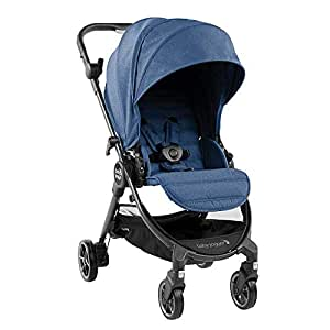 Baby Jogger City Tour LUX Stroller   Compact Travel Stroller   Lightweight Baby Stroller with Backpack-Style Carry Bag, Perfect for Travel, Iris