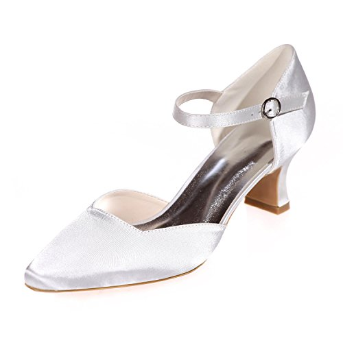 L@YC Women Wedding Silk 0723-07 Pointy/Party Night & More available Color Customization White 3YyFLqVs8L