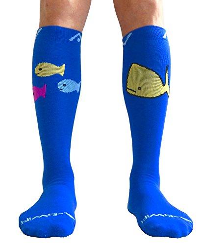 Socks for Women & Men - Ocean Harmony, Small (Fish Small Chart)