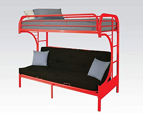 Acme Furniture 02091W-RD Eclipse Futon Bunk Bed, Twin/Full, Red