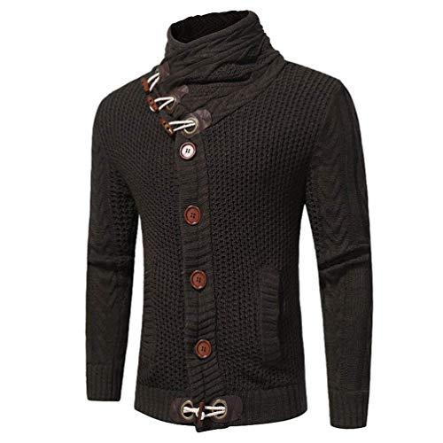 Huixin Et Col Schwarz Hiver Veste Solide Automne Vintage Pull Haut Hommes Tricotés rg8wTqrBx