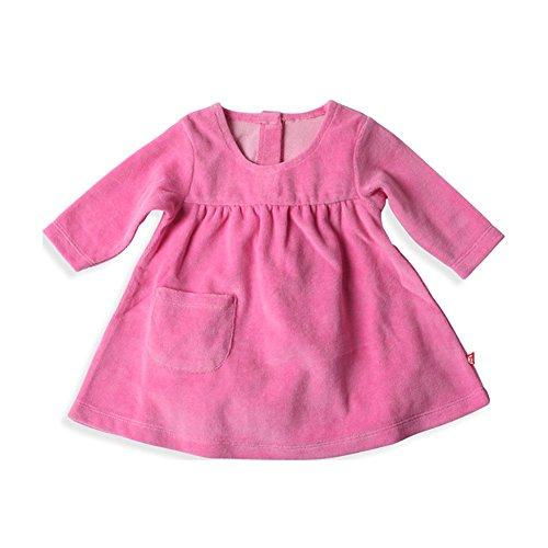 Jumper Velour Dress (Zutano Baby Girls' Velour Little Pocket Dress - Hot Pink, 6 Months)