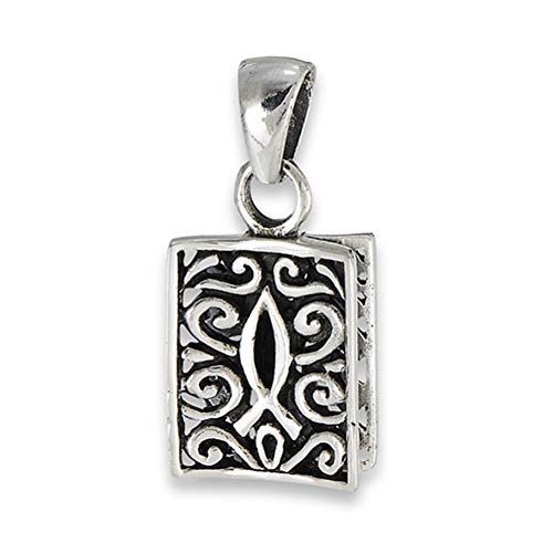 (Filigree Icthus Pendant .925 Sterling Silver Ornate Religious Scroll Fish Charm Jewelry Making Supply Pendant Bracelet DIY Crafting by Wholesale Charms)