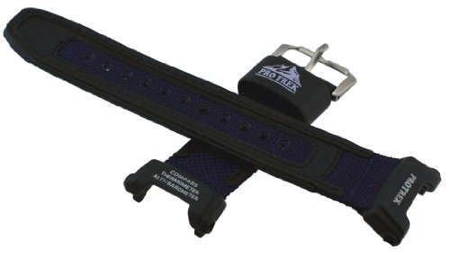 - Casio PRG-240B Replacement watch band - Blue cloth & leather