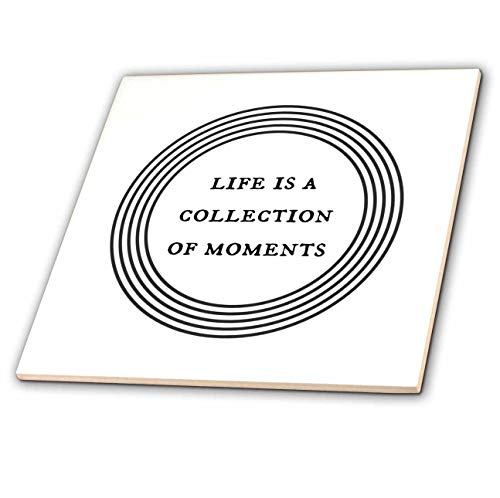 Collection Images Glass Tile - 3dRose Nicole R - Quote - Image of Life Is A Collection Of Moments - 6 Inch Glass Tile (ct_310232_6)
