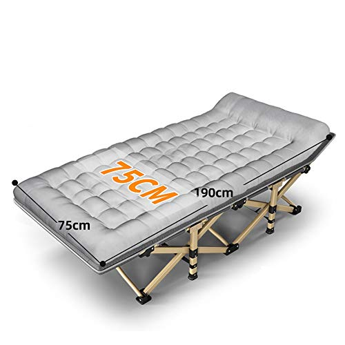 DYYD Camping Bed Outdoor Travel,Base Camp,Hiking Mountaineering,Backpacking Adult Folding Camping Cot,Travel Military Portable for Indoor Outdoor Use