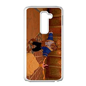 LG G2 Cell Phone Case White Beauty and the Beast Character Beast eavn