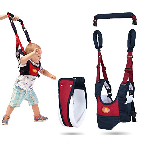 Baby Walker Harness with Crotch,Toddler Walking Assistant Helper,4 in 1 Detachable Adjustable Soft Standing Up and Walking Learning Walking Wings for 7-24 Month Babies, Pulling and Lifting Use