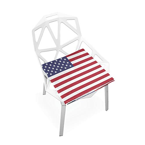 Jacksome Stars and Stripes Seat Cushion Pad Seat Office Chair Home Use Memory Foam Velvet Seat Cushion (Stripe Office Chair)