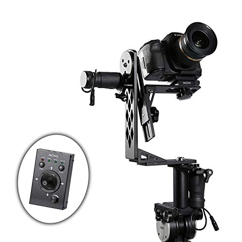 Movo Photo MGB-5 Aluminum Motorized 360° Pan and Tilt Gimbal Head for Tripods and Jibs - Supports Cameras up to 11 LBS (Crane Jib Head)