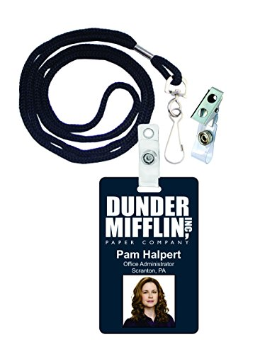 Pam Halpert The Office Novelty ID Badge Film Prop for Costume and Cosplay • Halloween and Party Accessories -