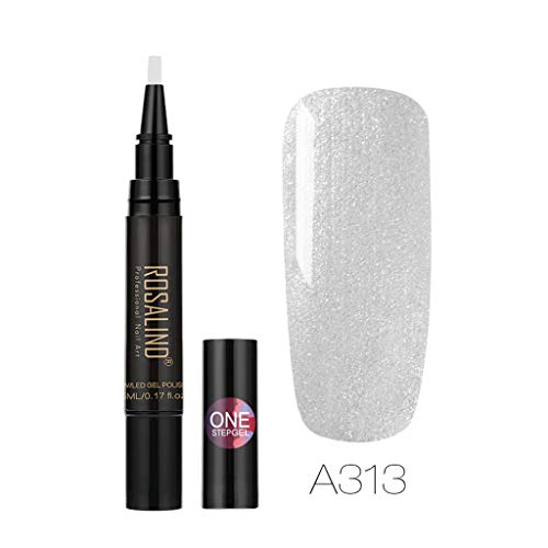 Nail Art KpopBaby Rosalind Newest 3 in 1 Gel Nail Varnish Pen Glitter One Step Nail Gel 24 - Machine Vending Dollar