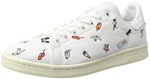 White Stan footwear White Smith Adidas White off Blanc Baskets footwear Femme Mode pqZHwC