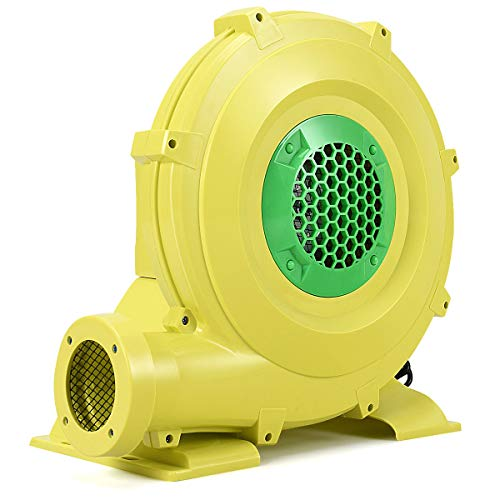 Costzon Air Blower, Pump Fan Commercial Inflatable Bouncer Blower, Perfect for Inflatable Bounce House, Jumper, Bouncy Castle (680 Watt 1.0HP) Yellow