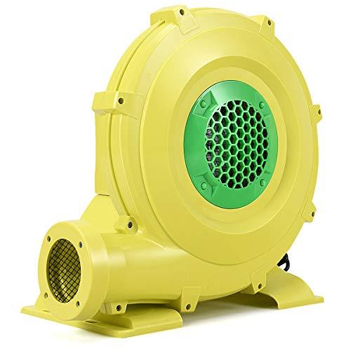 Costzon Air Blower, Pump Fan Commercial Inflatable Bouncer Blower, Perfect for Inflatable Bounce House, Jumper, Bouncy Castle (950 Watt 1.25HP) Yellow -