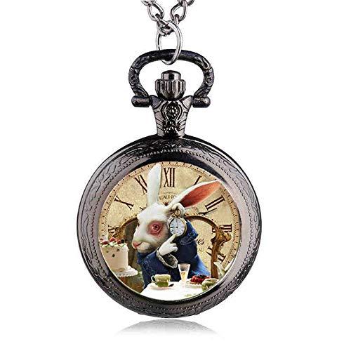 Fashion Design Alice in Wonderland Rabbit Pocket Watch | Women Children Pendant Necklace