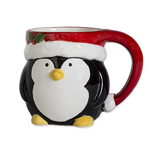 Penguin Holiday Character 12 ounce Ceramic Dolomite Christmas Coffee Mug