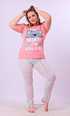 Hi-Touch Multi-color Pajamas - Big Size - for Women , 2725615226093