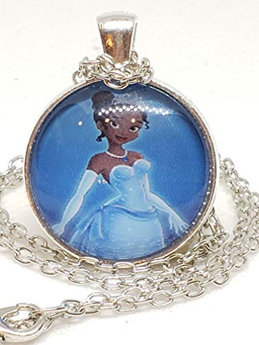 Tiana Princess and The Frog Glass Tile Necklace ()