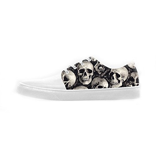 Teschio Scarpe Canvas Women's Scarpe Le Custom Shoes qxZwRYWqdT