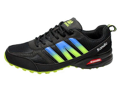 Les Hommes Oversize Espadrille Chaussures Grandes Tailles De Sport Noir / Vert