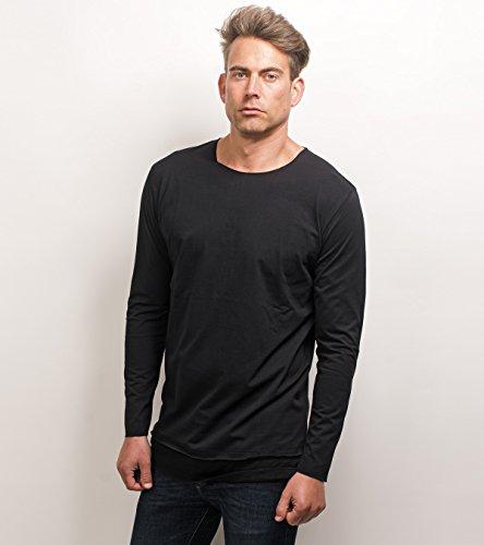 Camiseta Larga Negro Ewxx1qur De Rockamora Manga Cástor XTS1RRp