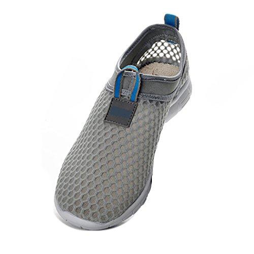 FENGDA Fenda Frauen & Herren Leichtes Atmungsaktives Mesh-Laufschuhe Walking Slip On Schuhe Strand Aqua Quick Dry Casual Blau