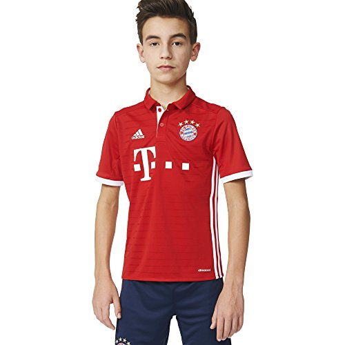 Adidas Soccer FC Bayern Youth jersey, Large, Red/White