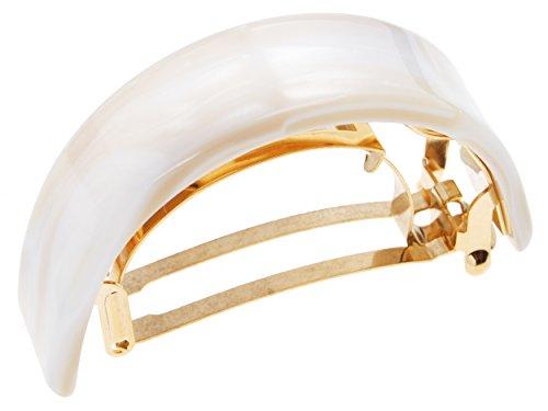 France Luxe Skinny Rectangle Ponytail Barrette - Alba