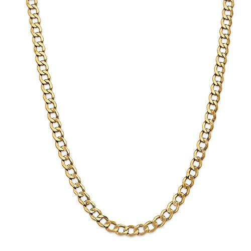 ICE CARATS 14kt Yellow Gold 7mm Curb Cuban Link Chain Necklace 20 Inch Pendant Charm Fine Jewelry Ideal Gifts For Women Gift Set From Heart 14kt Gold Curb Link Necklace