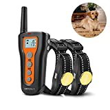 Dog Training Shock Collar, Waterproof and Rechargeable 1000ft Remote Shock Collar for 2