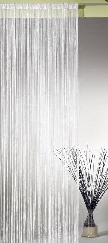 Fadengardine, Fadenvorhang, Fadenstore, WEISS HxB 245x148 cm Top Qualität einfach aufhängen! Typ121