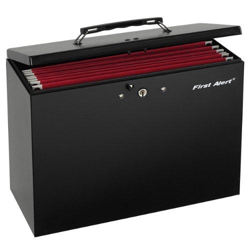 First Alert 3050F Steel Hanging Folder File Box, (Folders Online)