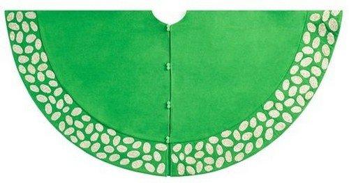 Arcadia Home TW4G Contemporary Pebble Pattern Tree Skirt Handmade , Green