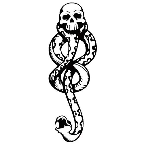Harry Potter Death Eaters Snake-Shaped Temporary Tattoo Body Graphics 5 Sheets -